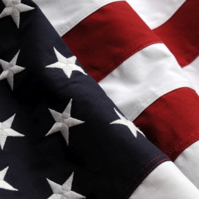 Close up of the United States flag
